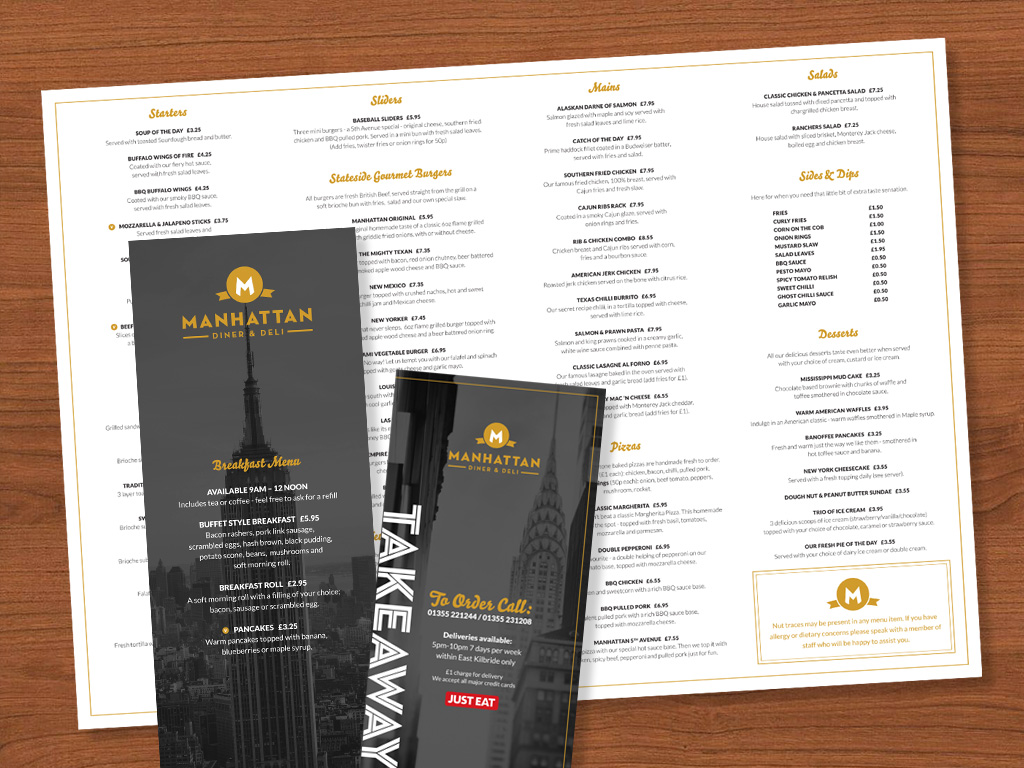 Manhattan Menus