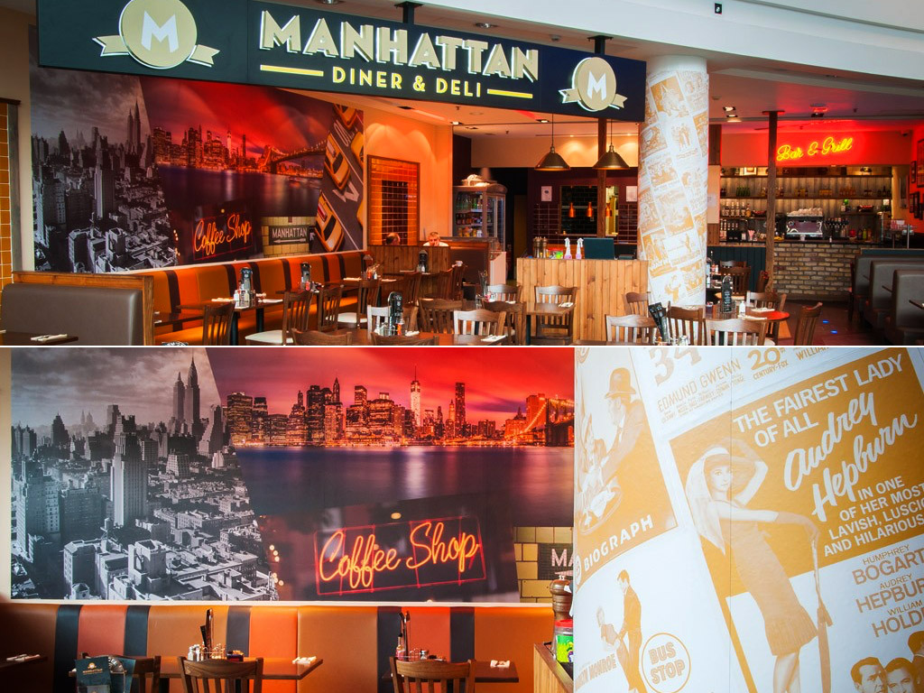 Manhattan Signage and Interior
