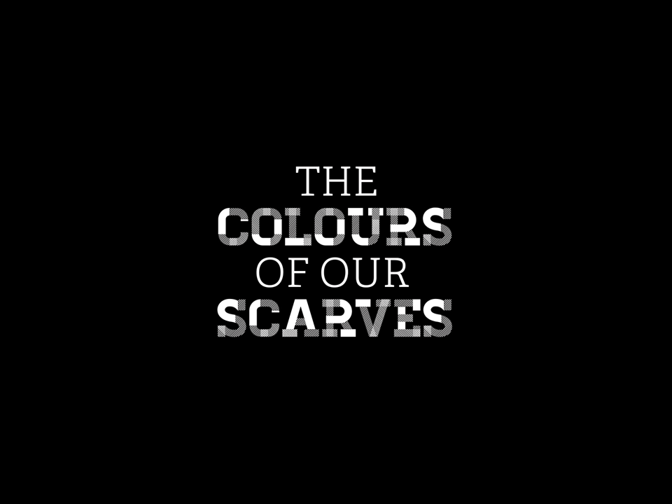 The Colours of our Scarves logo
