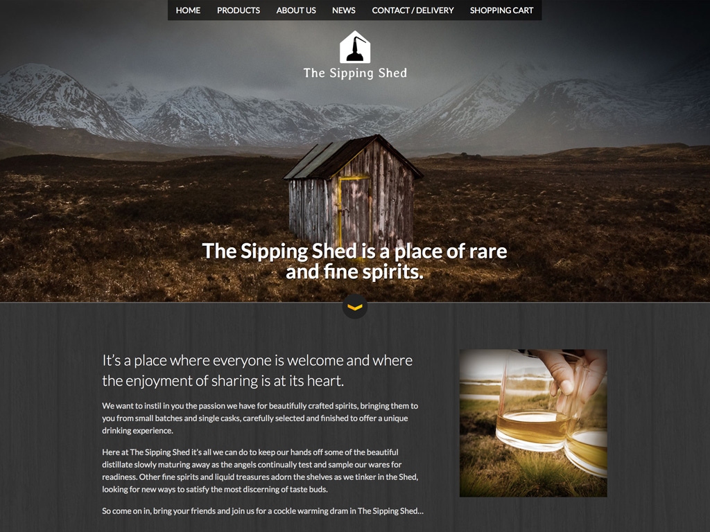 The Sipping Shed Website