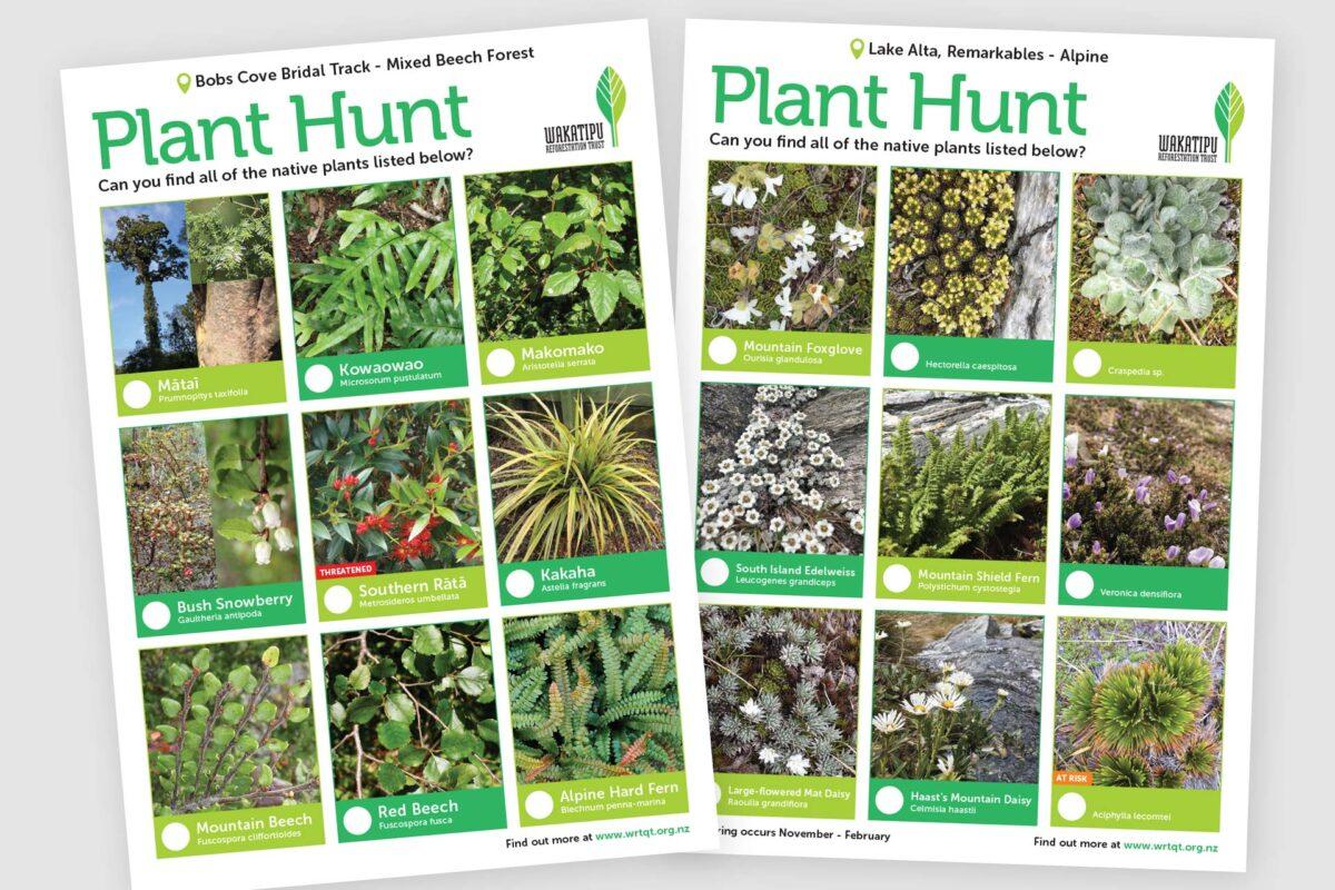 WRT Plant Hunt Sheets