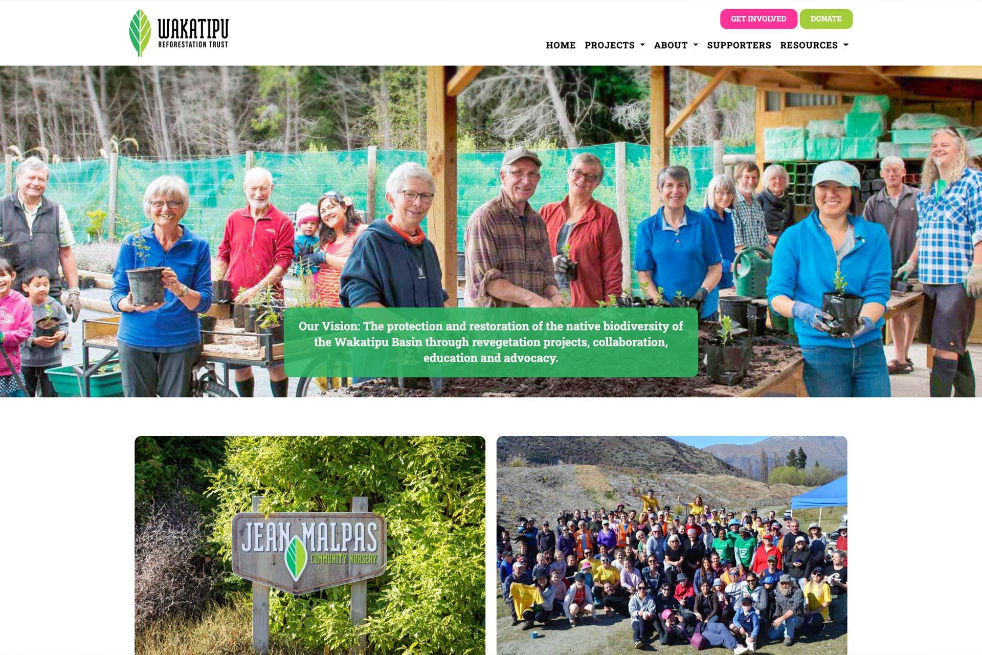Wakatipu Reforestation Trust Website