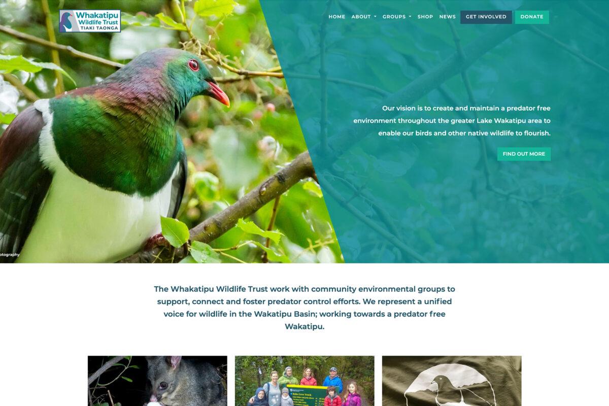 Whakatipu Wildlife Trust Website