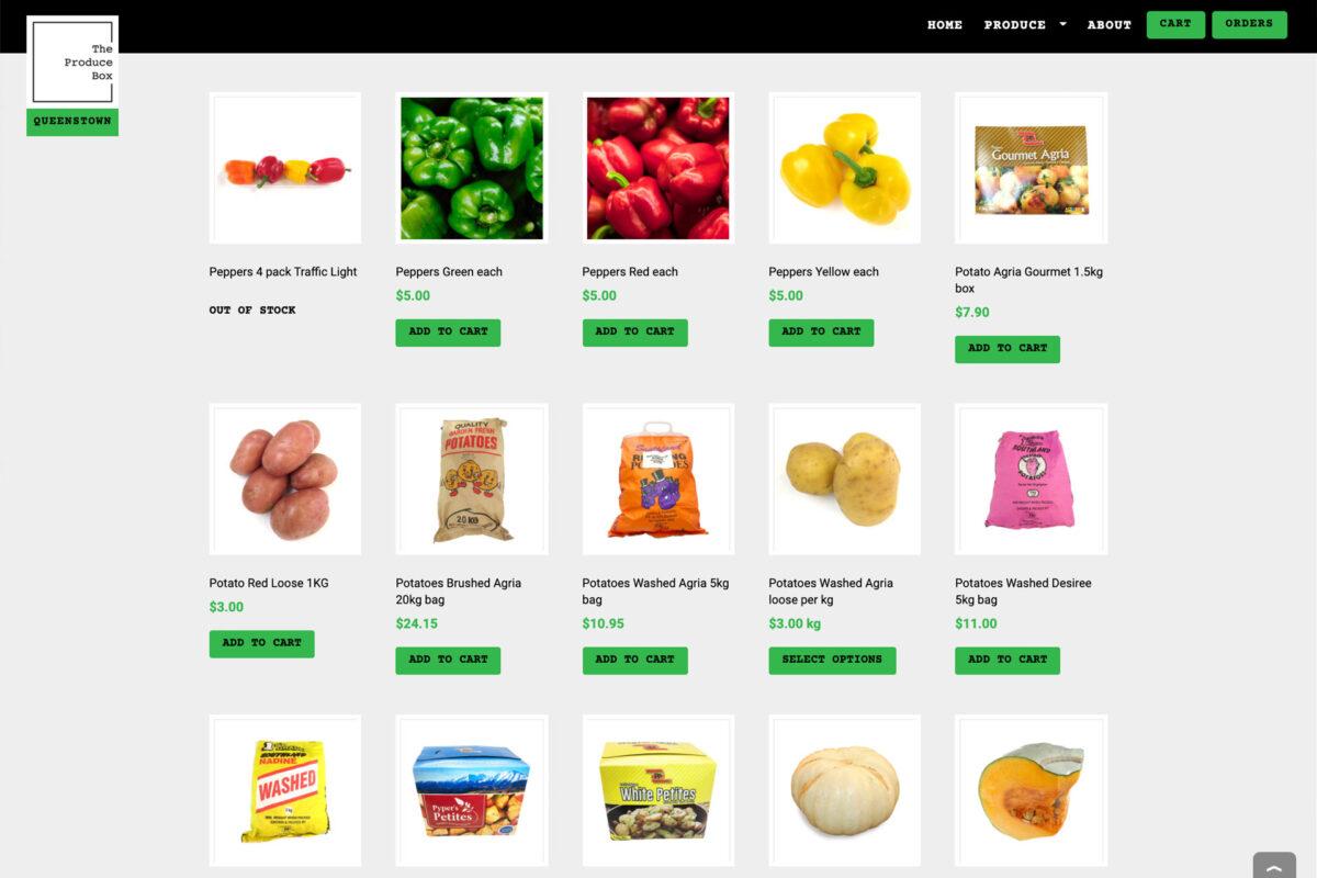 The Produce Box E-commerce
